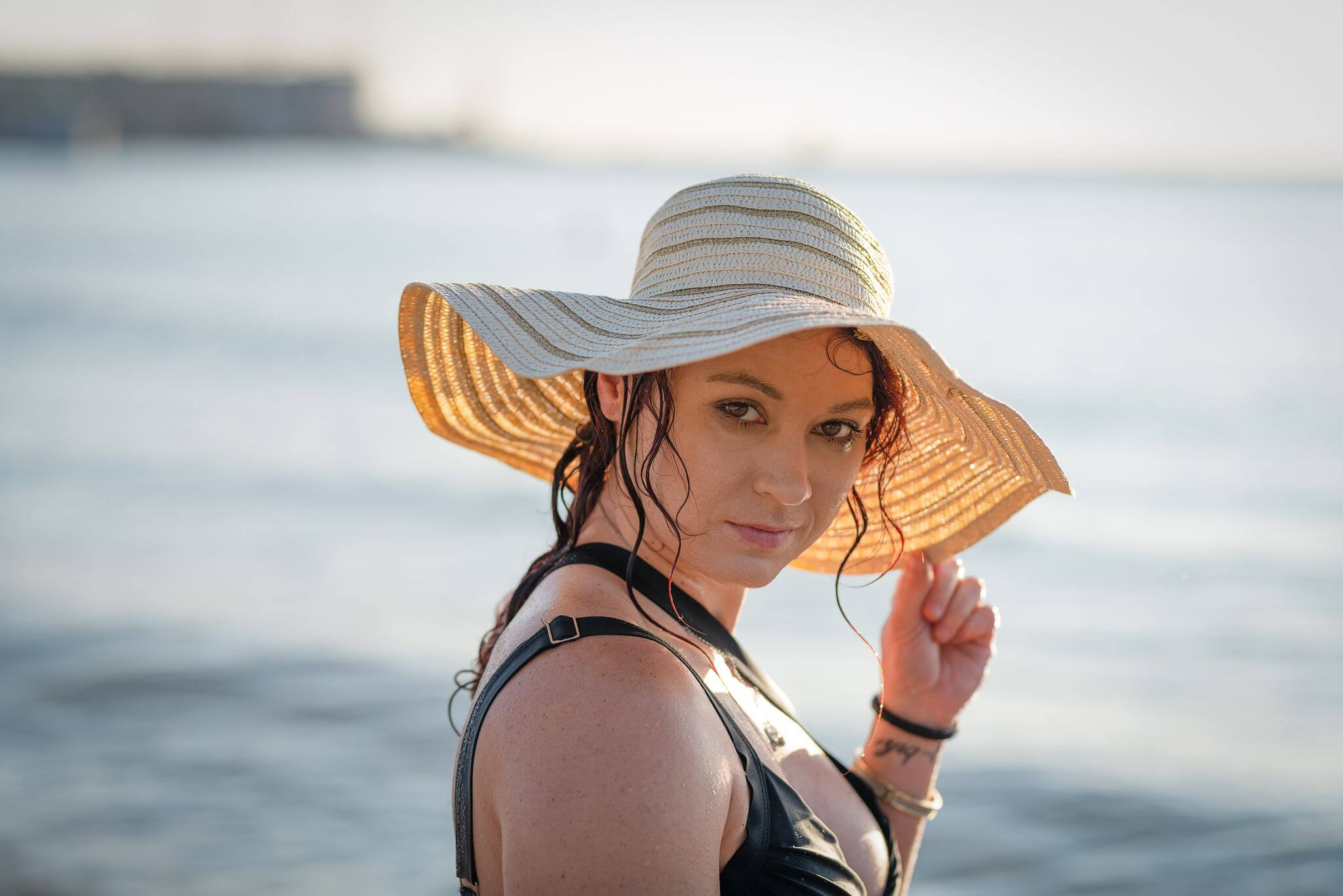 letni potret na plazy