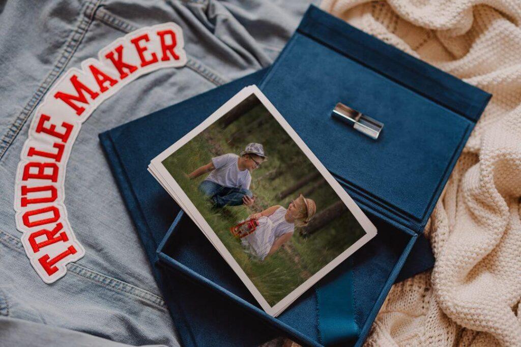 Welurowe pudełko na zdjęcia